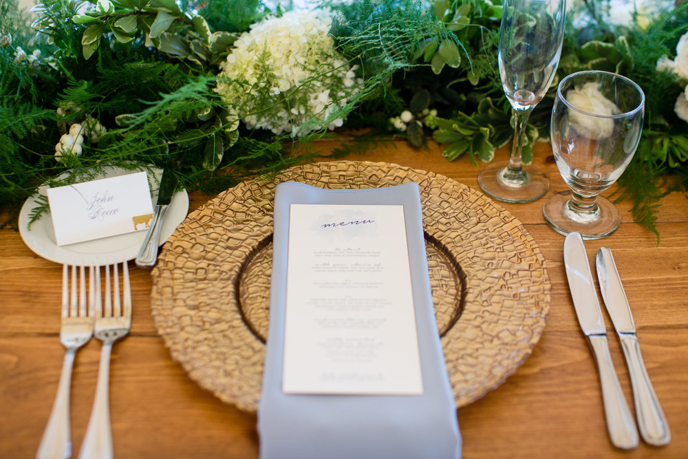 Place Setting at a Summer Nautical Wedding