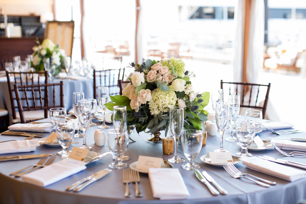 Table Set for a Nautical Summer Wedding