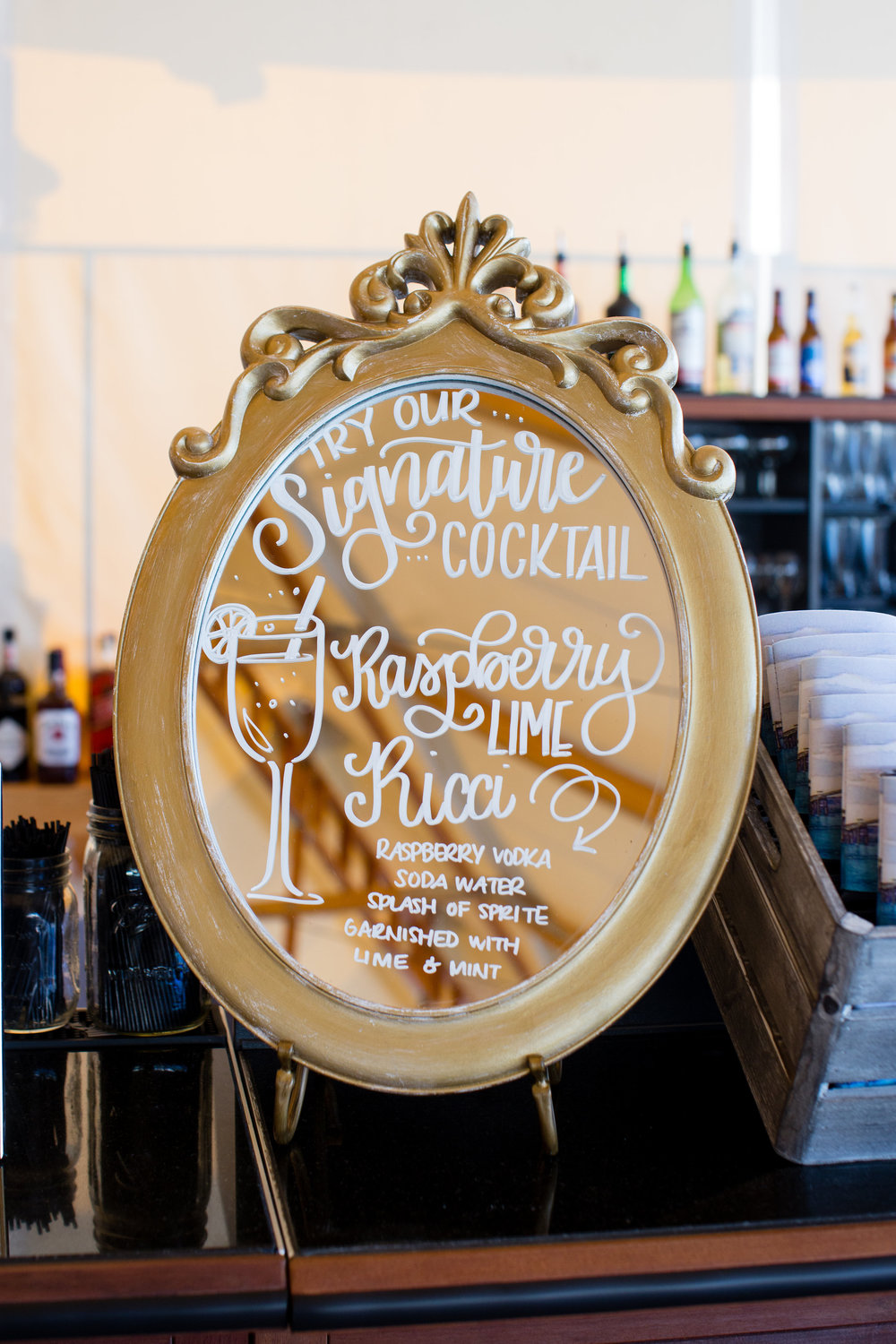 Sign for Signature Wedding Cocktail