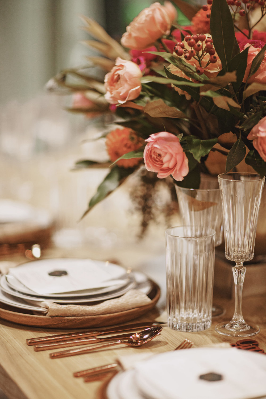 Fall Wedding Table Setting Inspiration