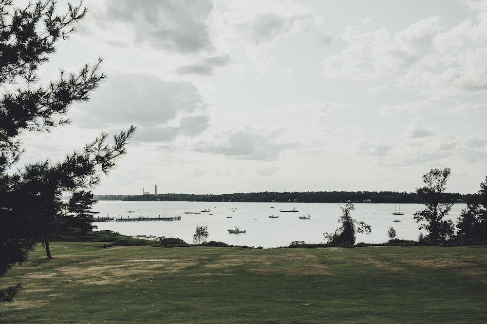 Coastal wedding on Chebeague island -