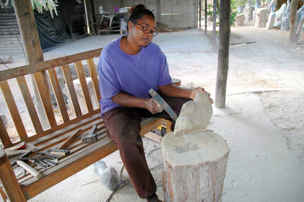 Agnes working.JPG