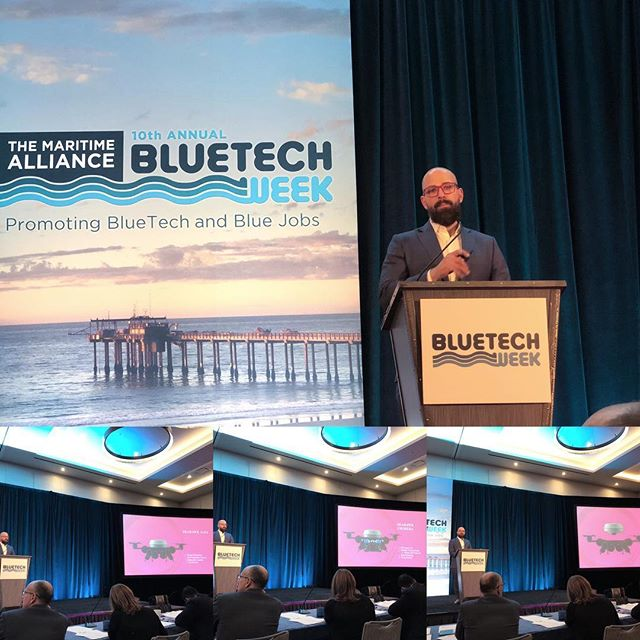 Pitchfest time at Bluetech Week presenting the SeaHawk product line. #drone #uav #productdevelopment #underwater #bluetech #bluetechweek