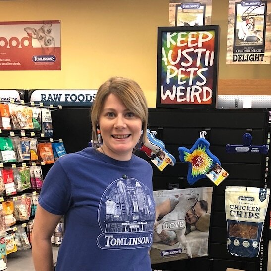 Tomlinson's has been one of the greatest companies to work for. They care deeply about their employees and encourage us to grow to our greatest potential. The amazing customers, generous work with rescues, and constant encouragement to strive for the best are the reasons I enjoy working here. - Jenny, Lakeway Store