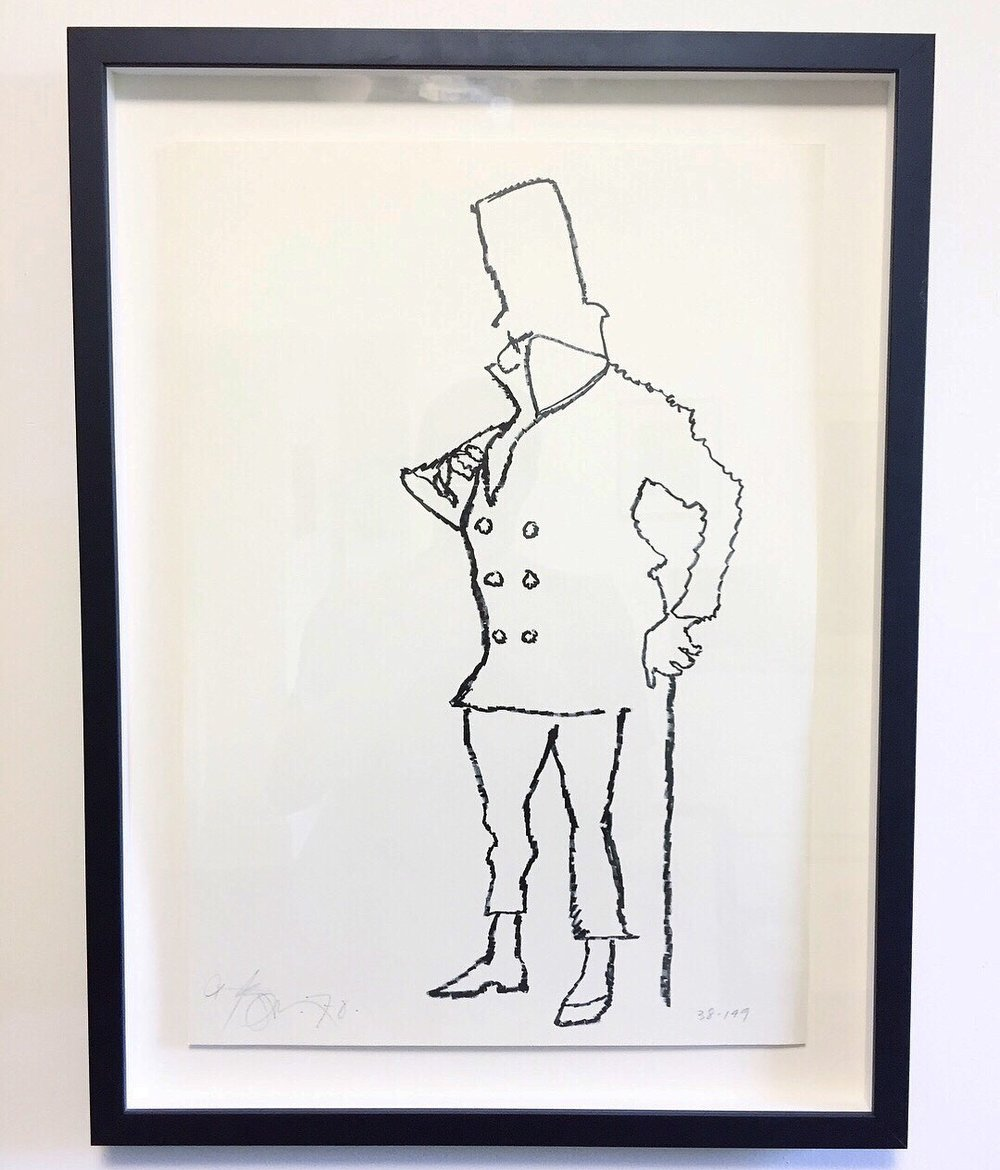 """Harold Town'W.C. Fields' - Lithograph1970Edition 38/14914""""x22"""".$325 SOLD"""
