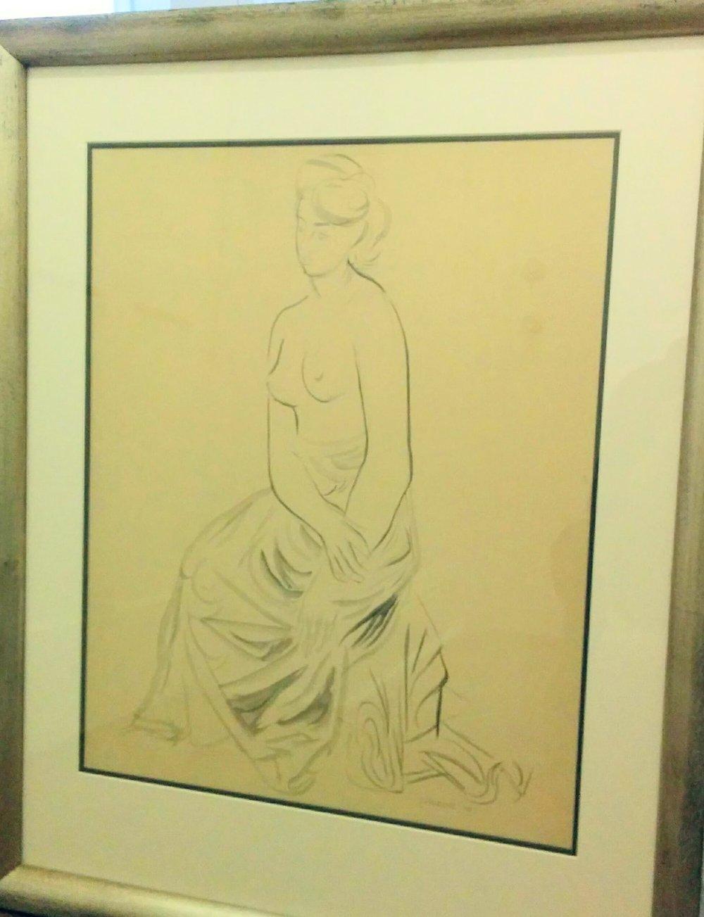 Stanley Cosgrove'Half Draped Nude' - Ink on Paper21