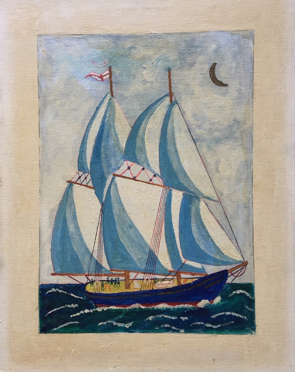 """Alex Falconer 'Bluenose' - Oil on canvas board, 196814"""" x 18""""Signed, titled and datedGood condition with minor discolouration$175.00SOLD"""