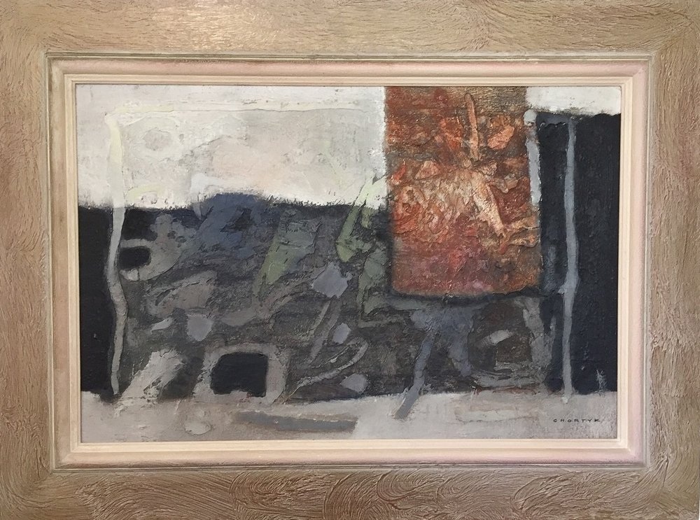 """Michael Chortyk(Canadian 1931-2017) - Oil on board15"""" x 23"""" (22"""" x 30"""" framed)Excellent condition$275.00SOLD"""