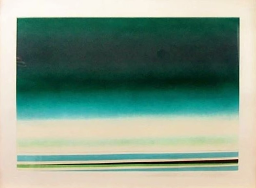 """RIta Letendre(Canadian 1928-)'Sous le Signe de L'amour Vert' - Colour Aquatint50/5017.5"""" x 25.5""""SOLD"""