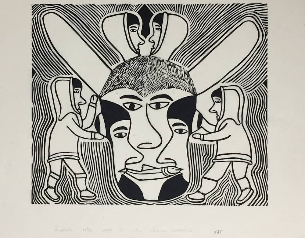 Simon Tookoome, 'Tupilak' - Woodcut, 1998 Signed, dated, edition 24/32, unframedPaper size 21