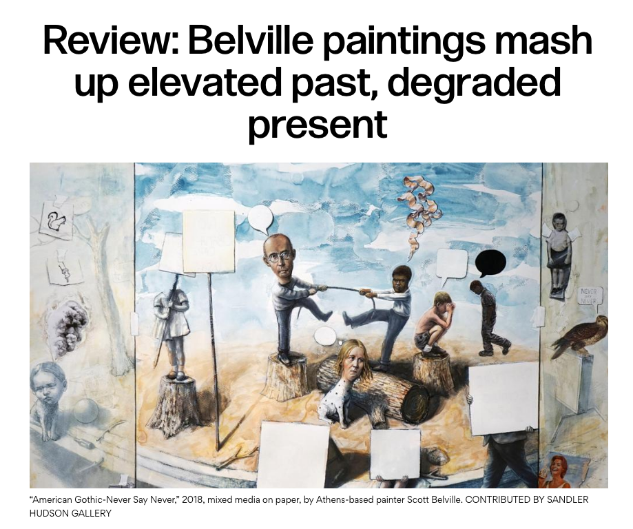 Scott Belville, Painting In Reverse