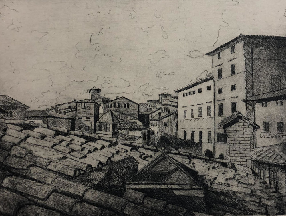 An etching by Kelly Schmidt