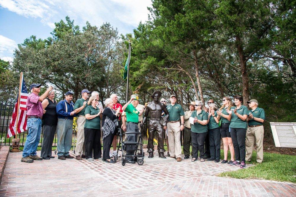 CCC Statue dedication ceremony.