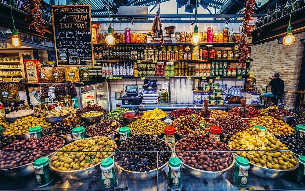 Carmel Market in Tel Aviv.