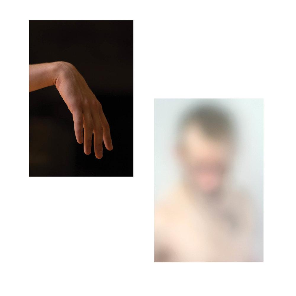 Left:  Limp Wrist, 2018  Right:  No Face, 2018