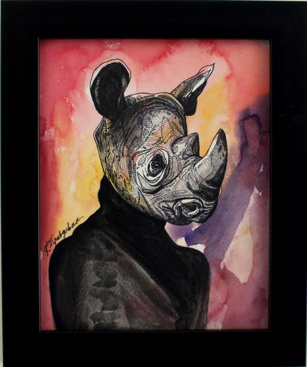 Critically Endangered Black Rhino