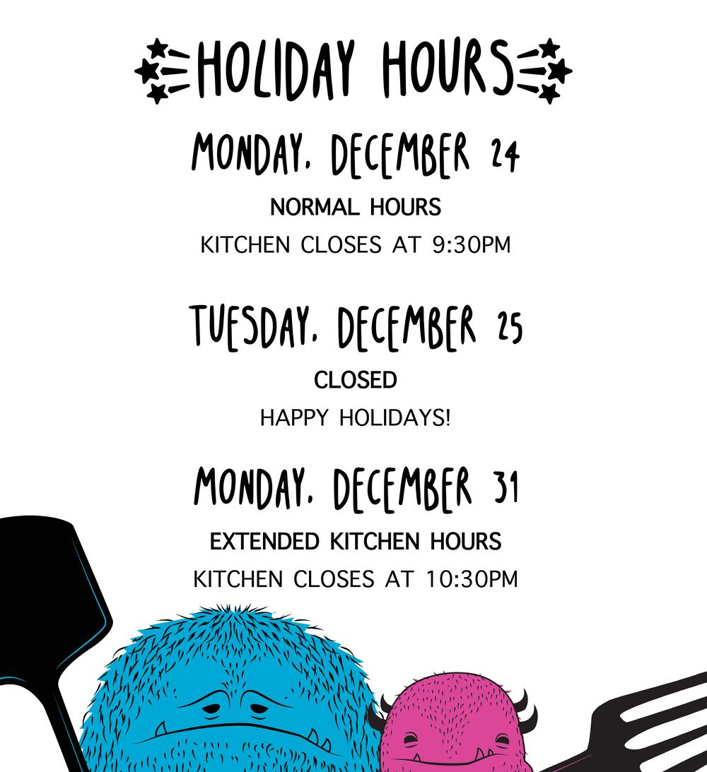 holiday hours update little beast neighborhood cafe bistro