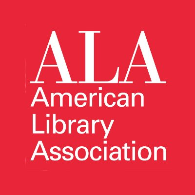 The American Library Association gave a favorable review to the gay Christian novel  Playing by the Book  by S. Chris Shirley. This image is of the American Library Association logo.