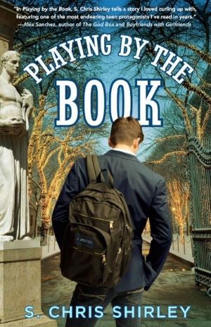This is the final book cover for  Playing by the Book,  the award-winning gay religious novel by S. Chris Shirley. Cover design by Tal Goretsky with photographs courtesy of Richard Gerst and Jonnie Miles.