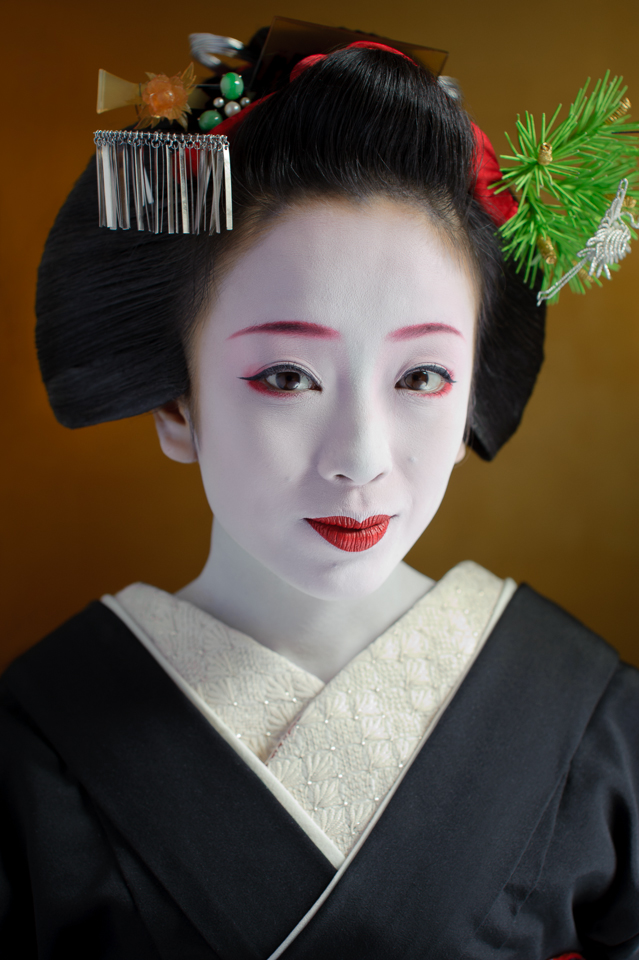 The maiko Makiko of Gion Kobu two weeks before she became a geisha in 2009