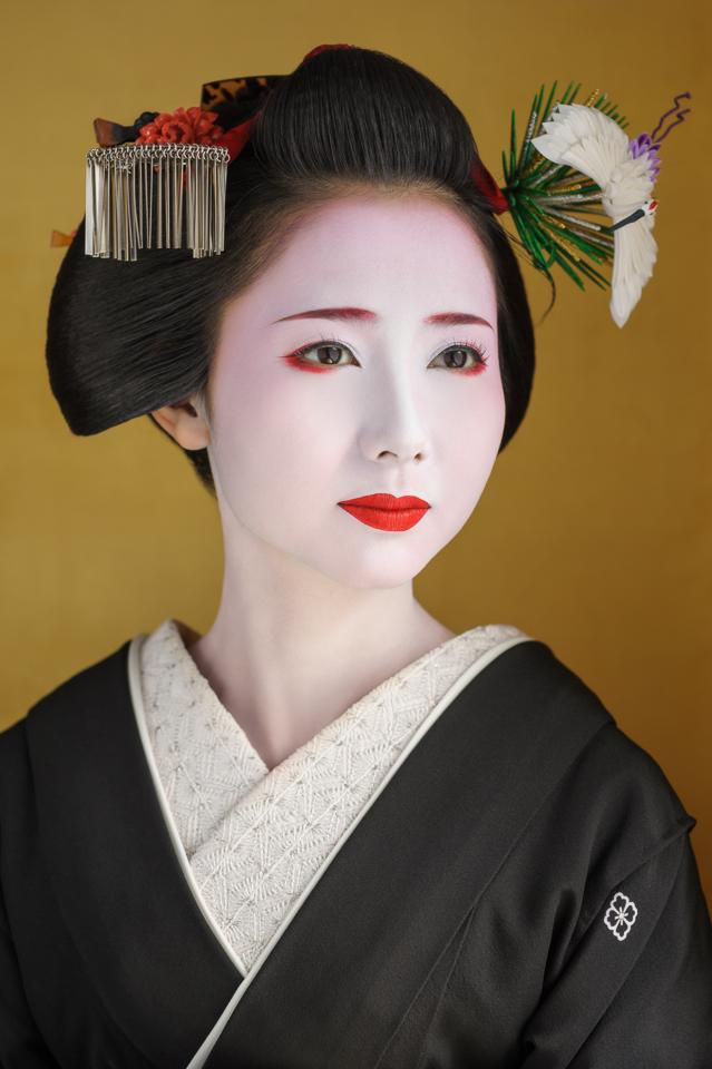The maiko Mamehana of Gion Kobu 12 days before she became a geisha