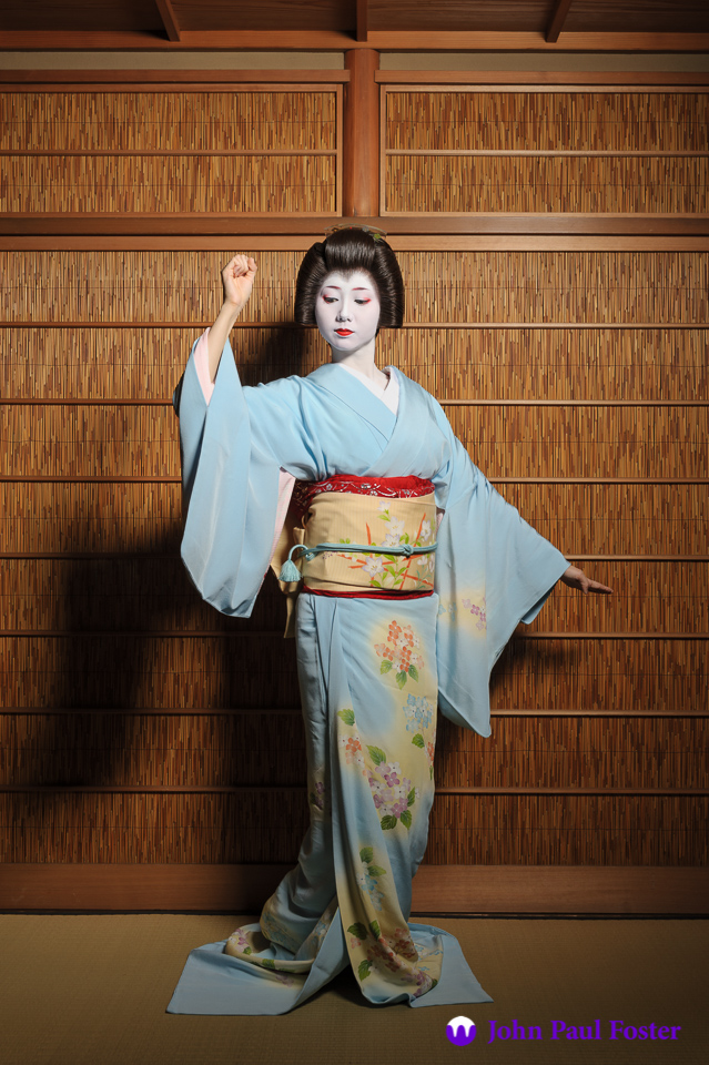 The geisha Mamehana of Gion Kobu dancing in the summer of 2011