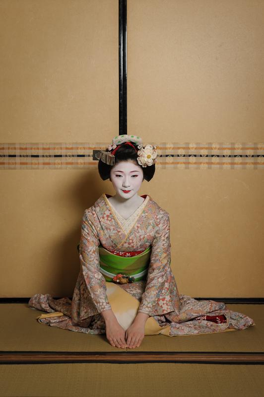 Tanewaka is a maiko in Miyagawa-cho, one of Kyoto's five geisha districts.