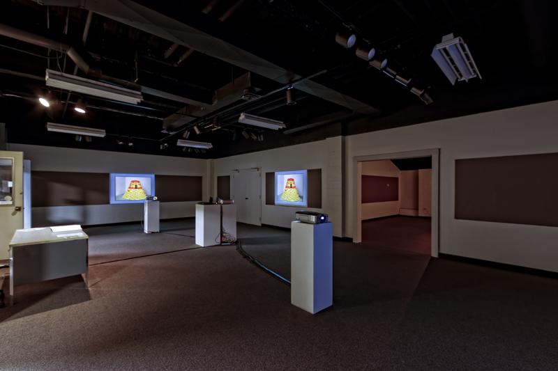 Installation view of Thomas Willis' Perceptual Ballads exhibition at Southwestern Michigan College in Dowagiac, MI. (photo courtesy Dennis Hafer)