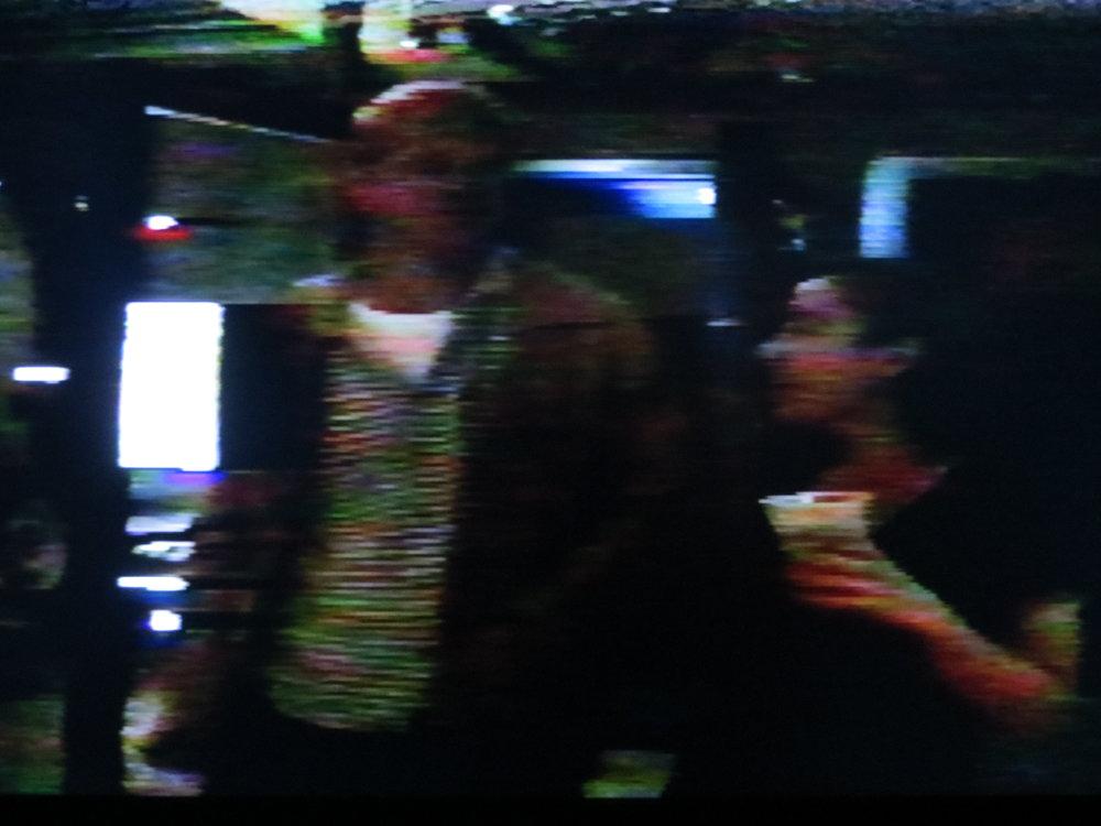 A still from a video recording of 49c Breakfast, December 5, 1993