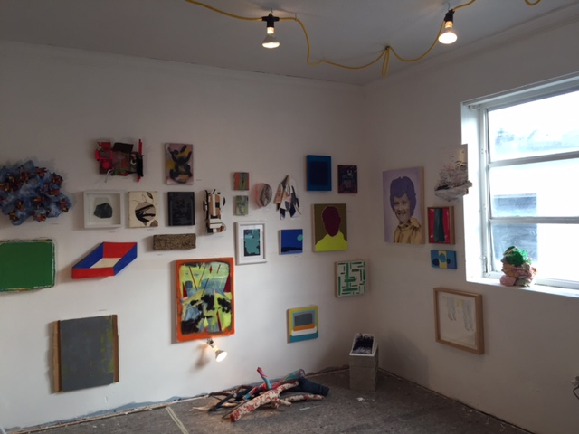 installation view of ART IN AMERICA, at the Artist-Run Show in Miami in December (image courtesy Audrey Barcio)