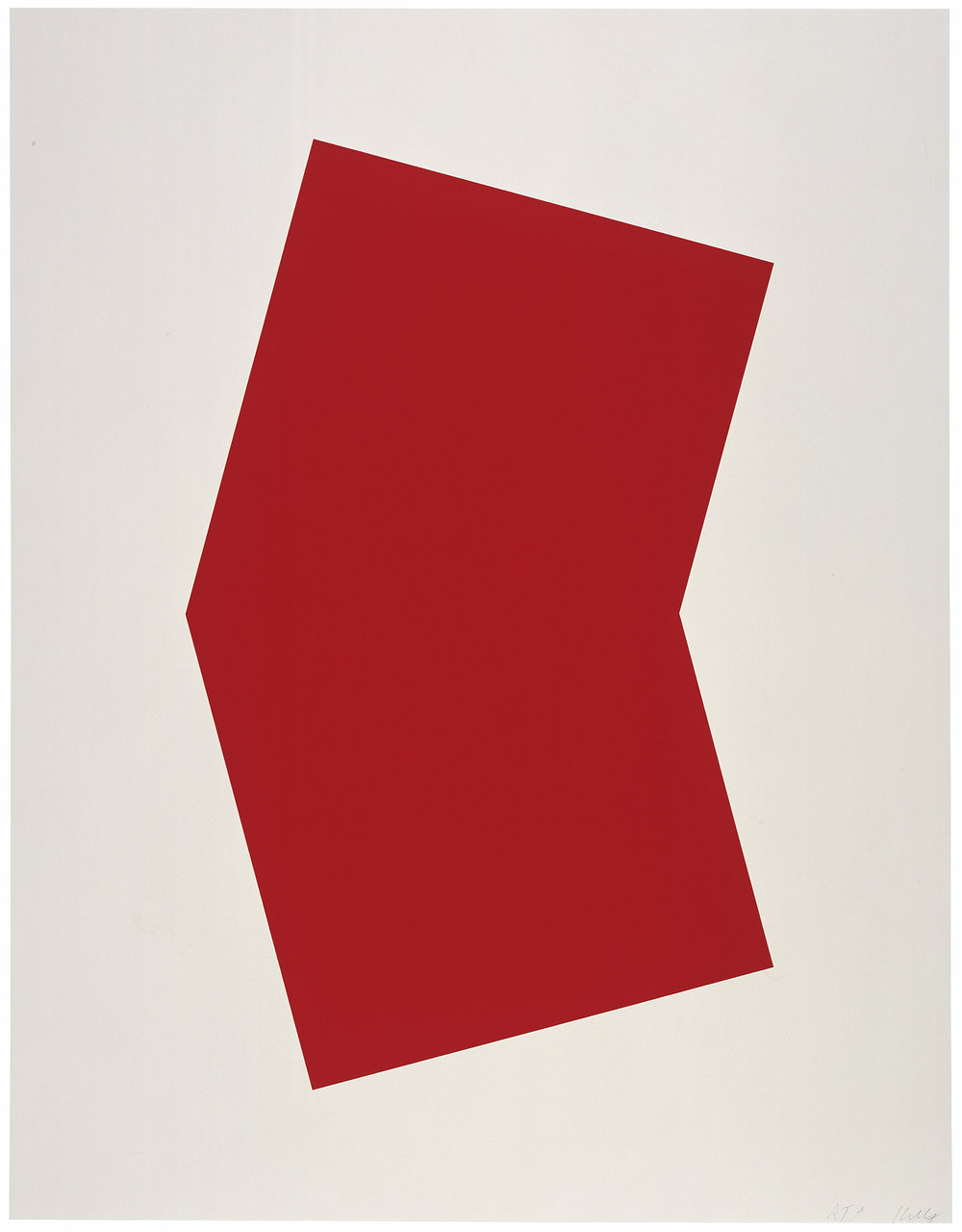 Red, 2001 at the Marjorie Barrick Museum © Ellsworth Kelly and Gemini G.E.L., Los Angeles