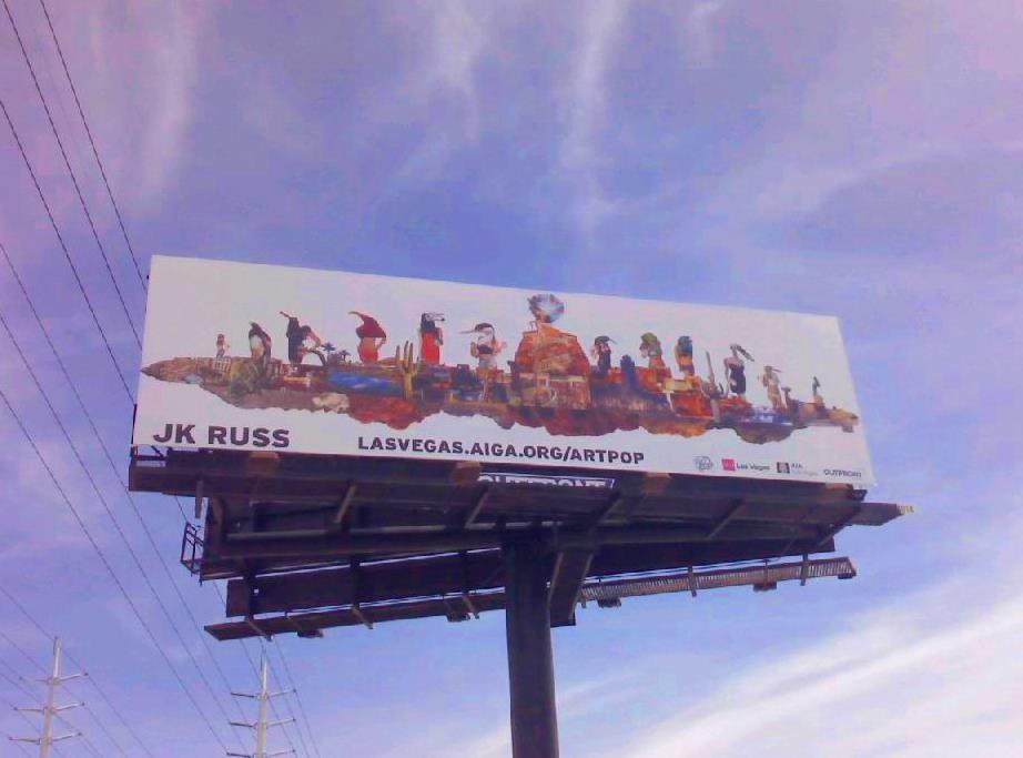 Jo Russ ArtPop billboard now on view in Las Vegas