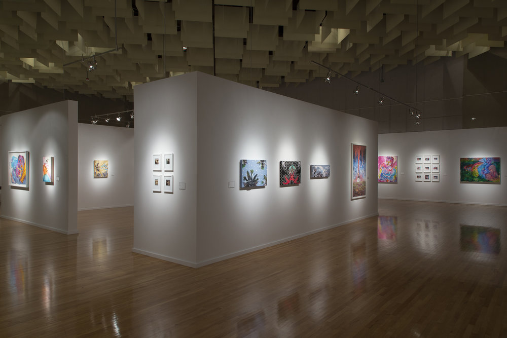 Installation view, Break Ups & Tear Downs at the Marjorie Barrick Museum (image Checko Salgado)