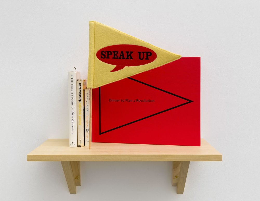 MK Guth, Dinner to Plan a Revolution, at Cristin Tierney Gallery in New York.