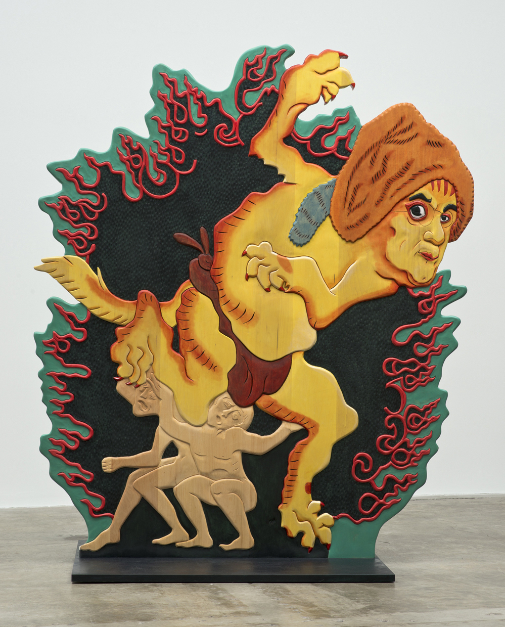 Erin Cosgrove,  Urfather Franklin , polychrome basswood, 2012. (Image courtesy the artist and Artist Pension Trust, Los Angeles)