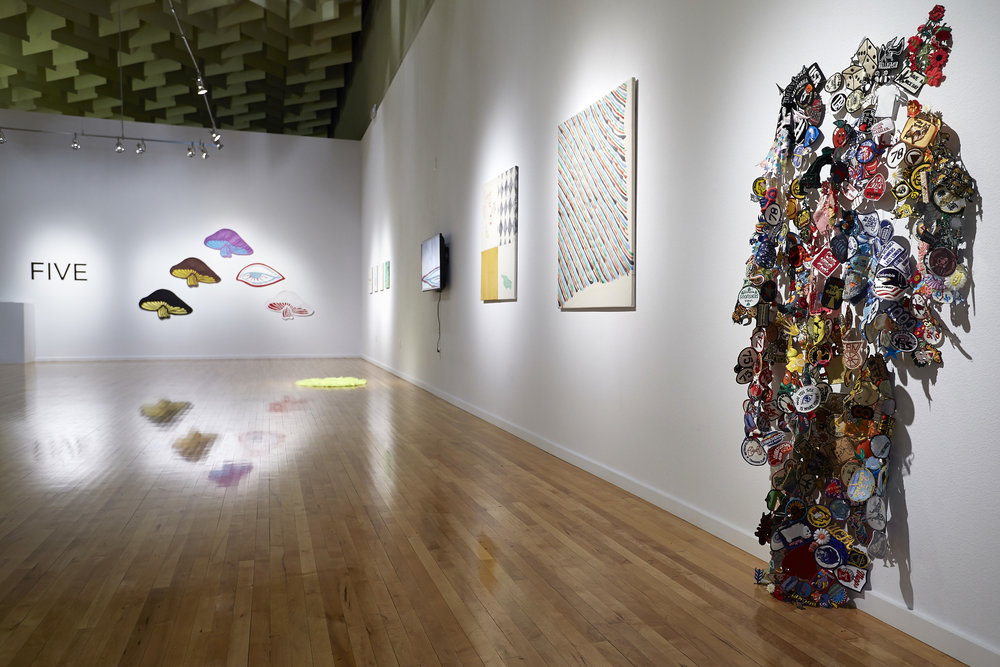 Installation view, Ash Ferlito, Five, Marjorie Barrick Museum. (R. Marsh Starks / UNLV Photo Services)
