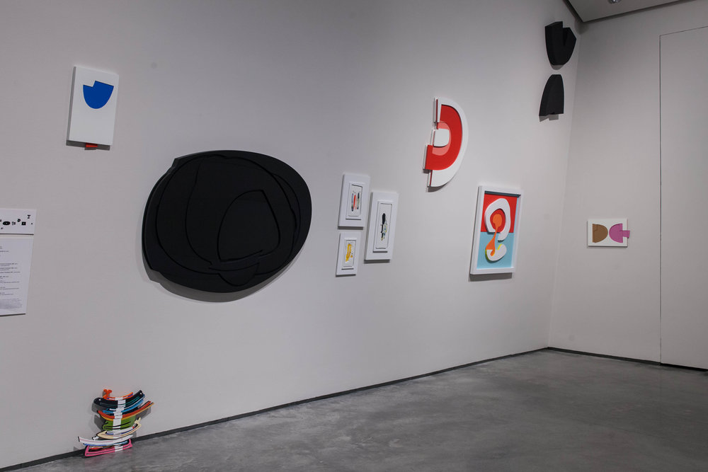 Installation view, David Ryan paintings. (Photo Mikayla Whitmore)