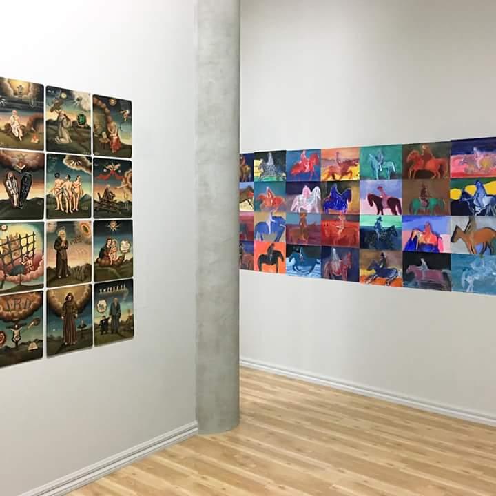 Installation view of Matthew Couper (left) at PAULNACHE. Courtesy the artist.