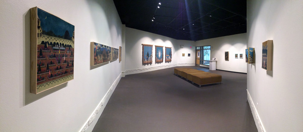 Installation view of the Dan Hernandez exhibition Genesis at the College of Southern Nevada Fine Arts Gallery