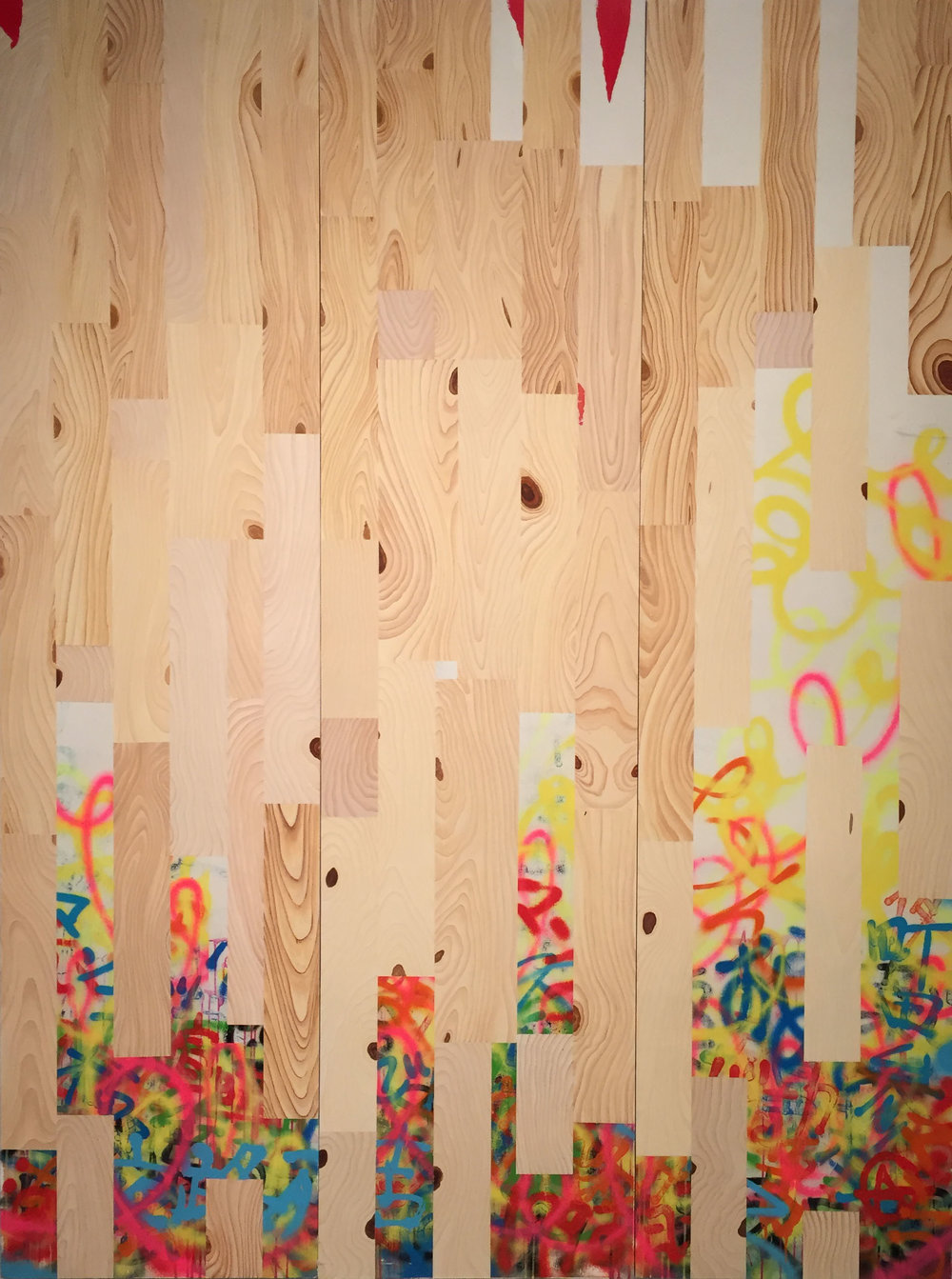 Sush Machida Gaikotsu, Not!, acrylic on wood panel, 96″ x 24″ 2016. (Photo Wendy Kveck)