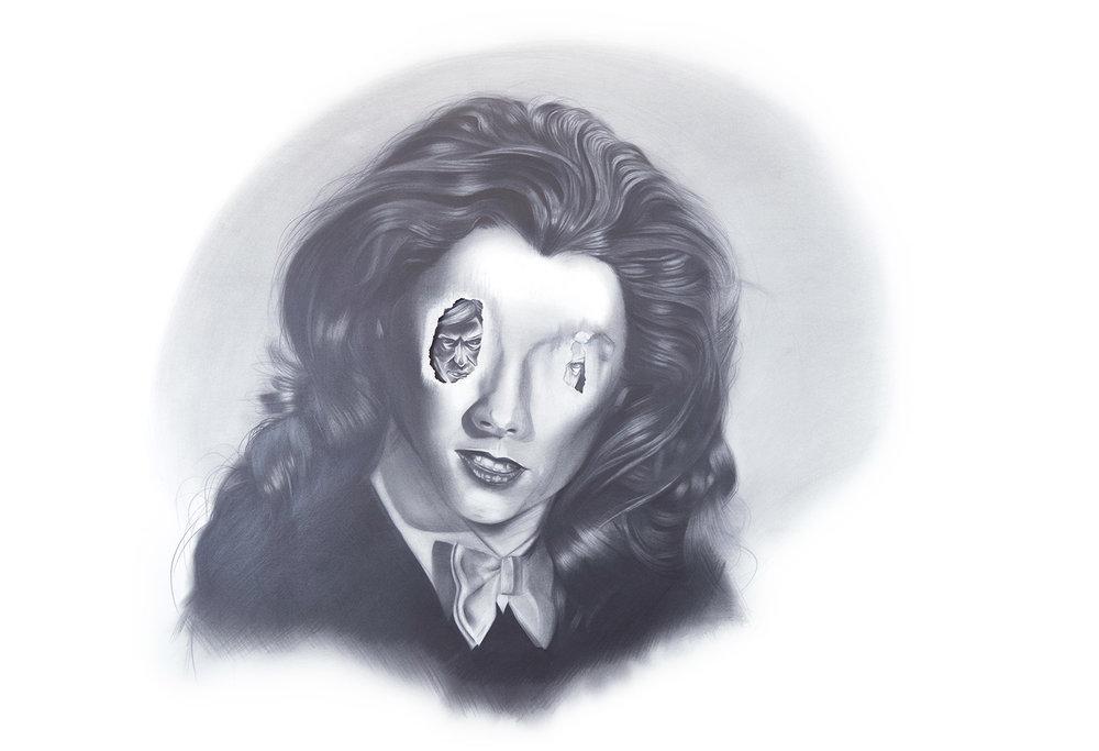 Daniel Samaniego, Celosa, graphite on paper, in Summer Reverie at CB1 Gallery. Image courtesy the artist.