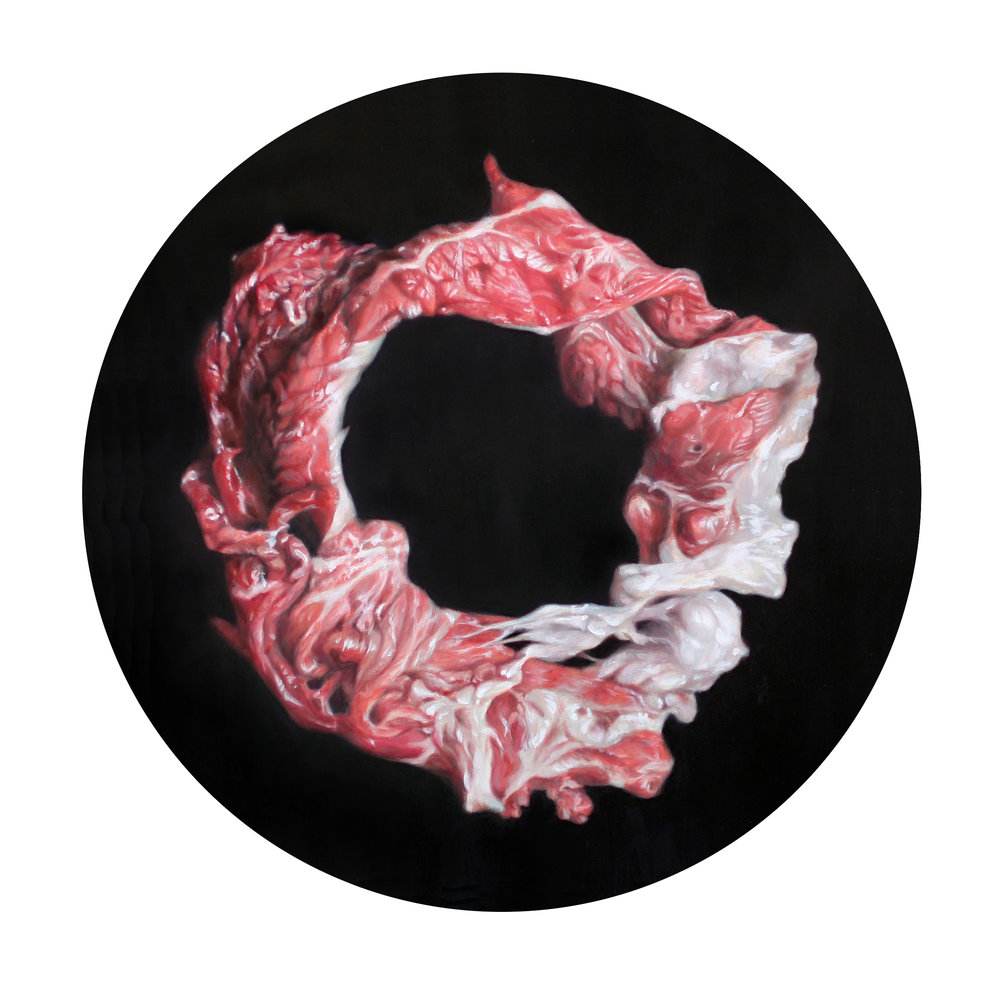 Victoria Reynolds, Obama Sirloin Enso, 2016. (Image courtesy the artist and Diane Bush).