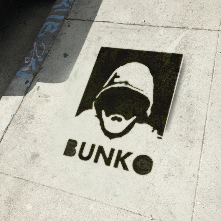Ed Fuentes, photograph of found original Bunko stencil, 2016 (courtesy Ed Fuentes)