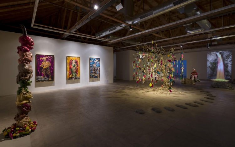 Marnie Weber at GAVLAK in Los Angeles. (Image courtesy the artist and GAVLAK)