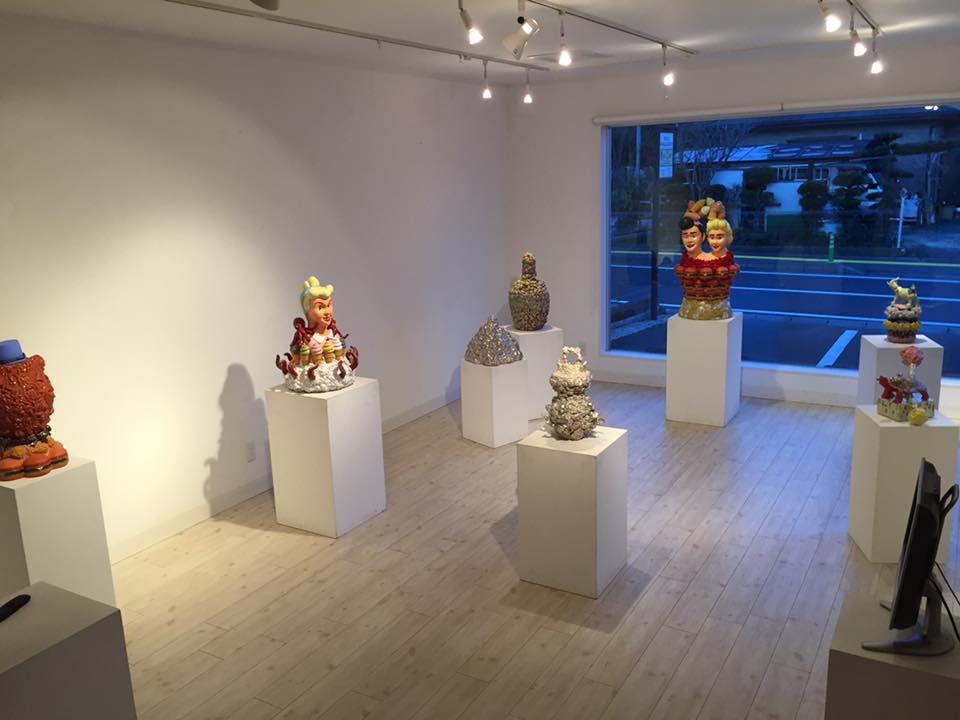 Yo Fukui at RYU Gallery in Fujinomiya City (image courtesy the artist)
