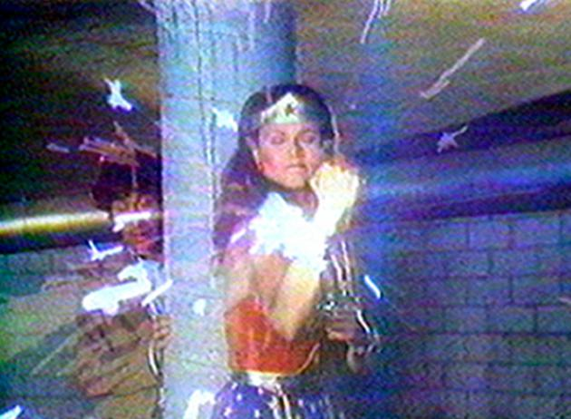 Still from Dara Birnbaum's   Technology/Transformation: Wonder Woman  , 1978. Image from folksonomy.co