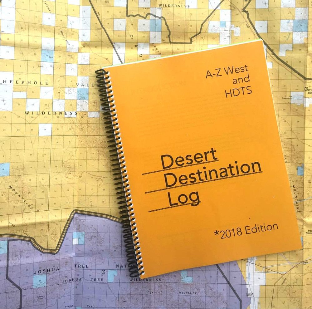 Andreana Donahue essays featured in the  Desert Destination Log , 2018 edition. (image courtesy the Hammer Museum)