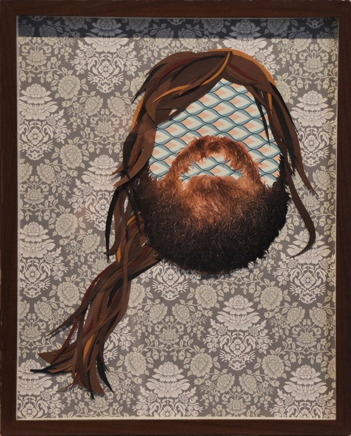 Kleven | Beard 116 | mixed media collage