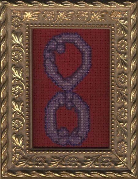 Symbols (infinity penis) | cross-stitch
