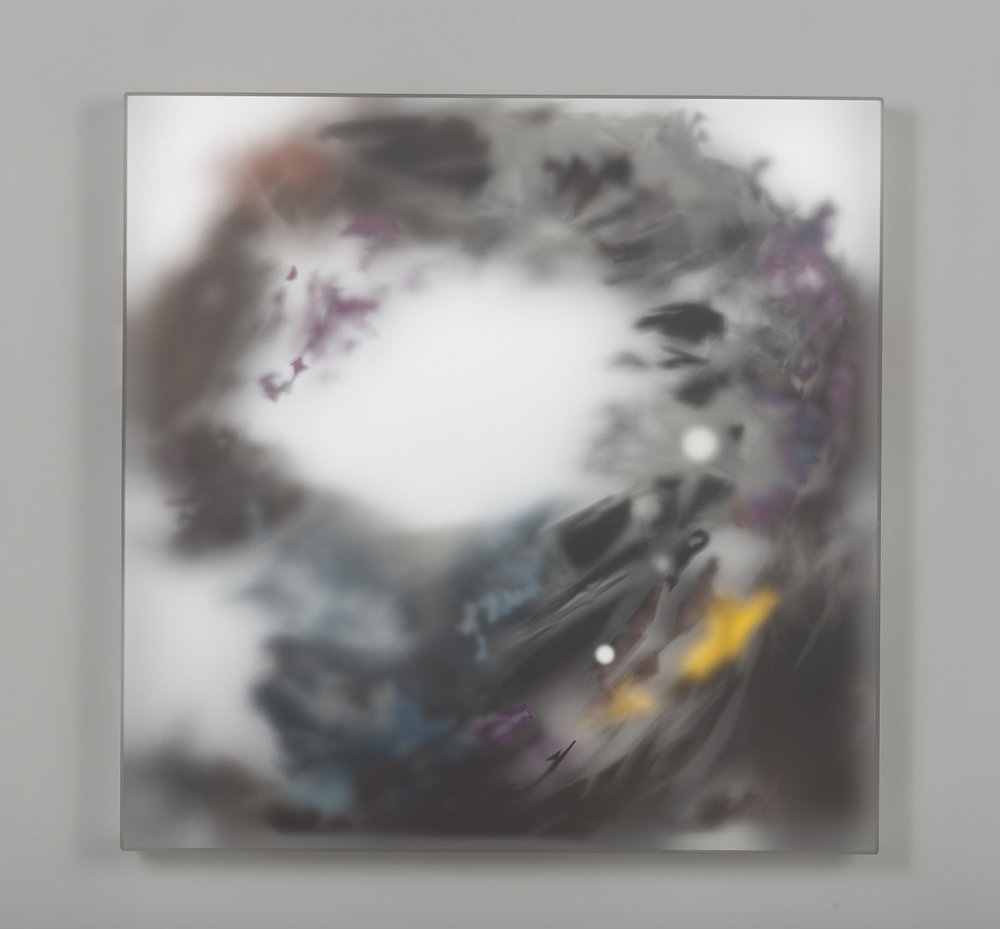 Morey | Ascension | Frosted Plexi, Mirrored Plexi, Mylar, Vellum, Paint
